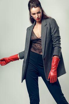 Red Leather, Leather Jacket, Fashion Shoot, Fashion Stylist, Stylists, Bomber Jacket, Jackets, Pictures, Studded Leather Jacket