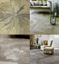 Carved timber flooring; www.ivassalletti.it Never seen this before.