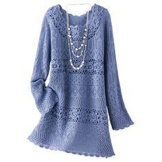 Платье-туника синего цвета