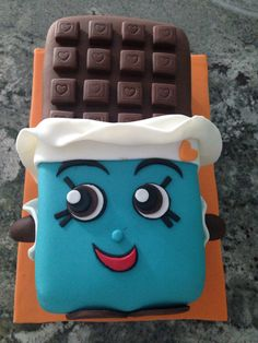 Cheeky chocolate shopkins birthday cake