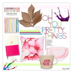 """""""Oh You Pretty Things!"""" by mcheffer ❤ liked on Polyvore featuring interior, interiors, interior design, home, home decor, interior decorating, LSA International, Mirabello, Scion and Bliss Studio"""