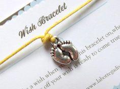 BABY FEETWish braceletSilver charm by LaBottegaDiViviana on Etsy, €2.30