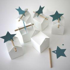 50 étoiles filantes : étiquettes - La dragée design : boites à dragées - dragées - faire-part