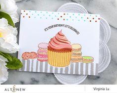 Altenew Layered Cupcakes + Handmade Tags card by Virginia Lu