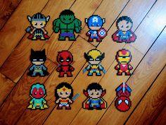 Super héros en Perles Hama Marvel DC Cute : Ironman, Deadpool, Batman ...