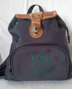 Details about Vintage 90 s Sanrio KEROPPI Dark Green Small Backpack  Shoulder Bag c3be2729cc