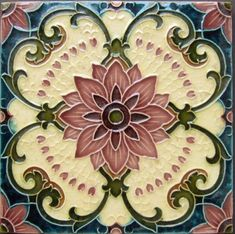 Charming Deco Artistic Tile Ceramic Kitchen Back Splash Motifs Art Nouveau, Azulejos Art Nouveau, Design Art Nouveau, Art Design, Decorative Tile Backsplash, Mosaic Tiles, Backsplash Tile, Tiling, Art Tiles
