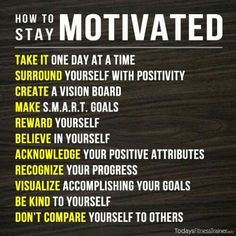 Staying motivated is hard...it can be the hardest part of achieving your goals.  Here are some great tips to help you with motivation...no matter what your goals! #SimplyFree