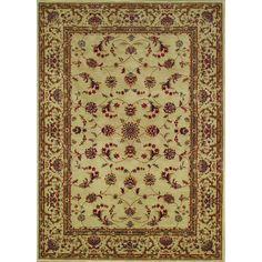 Regal Black Traditional Woven Polypropelene Rug