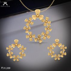 Buy Emmaline Round Gold Pendant Set with Price crafted with Yellow Gold gms). Gold Pendent, Pendant Set, Pendant Jewelry, Gold Jewellery Design, Gold Jewelry, Gold Set, Jewelry Patterns, Bridal Jewelry, Closer
