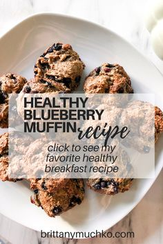 Click to see the full recipe and try these delicious superfood blueberry muffins. They are gluten free, dairy free, and great for restoring gut health! Holistic Nutrition | Gut Health | Weight Loss | Healthy Snacks | Healthy Muffins | Healthy Breakfast | Vegan Recipes #brittanymuchko #glutenfree #dairyfree #weightloss #guthealth #holisticnutrition #holistichealth Gluten Free Blueberry Muffins, Healthy Muffins, Blue Berry Muffins, Healthy Breakfast Recipes, Healthy Snacks, Whole Food Recipes, Vegan Recipes, Healthy Mind And Body, Healthy Eating Habits