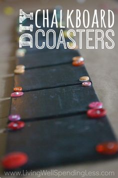 Great+tutorial+for+making+handmade+chalkboard+coasters+out+of+inexpensive+tiles.++Awesome+project+for+kids+to+help+with--would+make+the+perfect+gift+for+a+teacher!