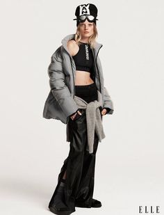 Alexander Wang and Hanne Gaby Odiele for Elle US October Cedric Buchet Fashion Editor: Samira Nasr Elle US October 2014 H&m Collaboration, Elle Us, Vogue Us, Teen Vogue, Sporty Style, Womens Fashion For Work, Sport Fashion, High Fashion, Women's Fashion