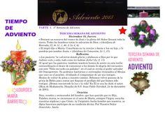TIEMPO DE ADVIENTO. ORACION TERCERA SEMANA DE ADVIENTO. JUEVES 19 DE DICIEMBRE DEL 2013. *♥ ♥LOURDES MARIA BARRETO♥ ♥*