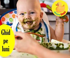 Ce mananca bebelusul: ghid pe luni cu introducerea alimentelor si retete pentru fiecare luna Baby Food Recipes, Parenting, Tips, Recipes For Baby Food, Raising Kids, Childcare, Parents, Hacks
