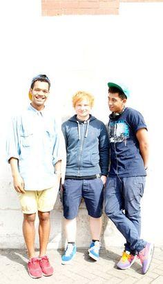 Ed Sheeran and the Rizzle Kicks