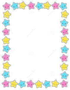 Illustration about Cute colorful stars border / frame for greeting cards, party invitation backgrounds etc. Illustration of fest, cute, clean - 12221290 Free Frames And Borders, Borders For Paper, Old Paper Background, Kids Background, Page Borders Design, Border Design, Kids School Organization, First Grade Themes, Eyebrow Makeup Products