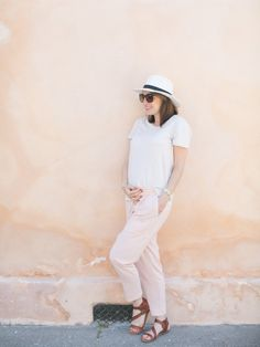 How to rock pastel pink pants   via @glitterguide theglitterguide.com