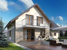 Projekt domu Dora 2 142,94 m2 - koszt budowy - EXTRADOM Facade Design, House Design, Best Tiny House, Exterior House Colors, New House Plans, Design Case, Home Fashion, Home Interior Design, Home Projects