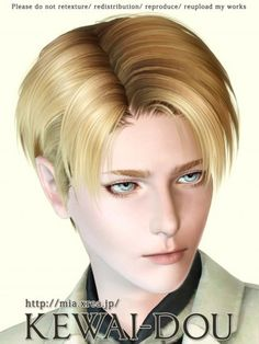 The Sims3 Male Hair Attack on Titan  by KEWAI DOU