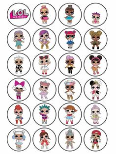 LOL Dolls Edible Plain Rice Paper Icing Party Stickers up Cake Topper