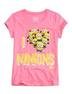 I Heart Minions Graphic Tee | Girls Graphic Tees Clothes | Shop Justice