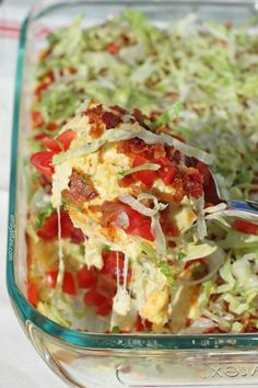 This lightened up hot BLT Dip is cheesy, decadent and a big crowd pleaser. No one will guess it's just 134 calories or 3 Weight Watchers points per serving! www.emilybites.com