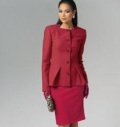 V8758, Misses' Jacket, Dress, Skirt and Pants