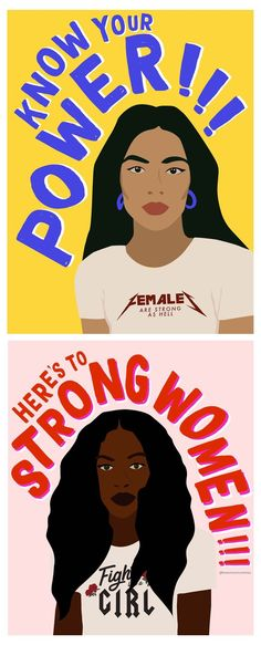 Here's to strong women! Feminist wall art that will keep you empowered and ins. - Here's to strong women! Feminist wall art that will keep you empowered and inspired. Art Et Design, Graphisches Design, Feminist Af, Feminist Quotes, Feminist Apparel, Girls Girls Girls, Girls Be Like, Les Suffragettes, Intersectional Feminism