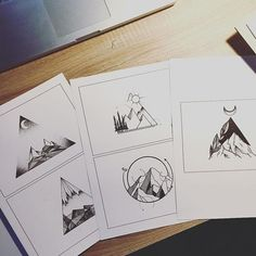 Preparing my flashbook for tomorrow! @marktvanmorgen #illustrator #illustration #design #drawing #draw #sketch #tattooflash #flash #tattoo #art #artist #artwork #artistic #instaart #linework #dotwork #blackwork #blackworkers #blackandwhite #mountains #landscape #evasvartur #instafollow #minimal #geometric #wanderlust #fineliner