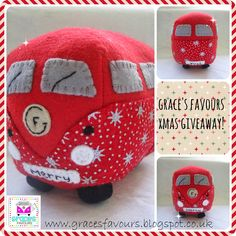 Grace's Favours - Craft Adventures: Christmas Felt VW Campervan Giveaway!!! Click through to the Blog to enter.