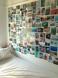 Photo picture wall idea college collage teen bedroom dorm room
