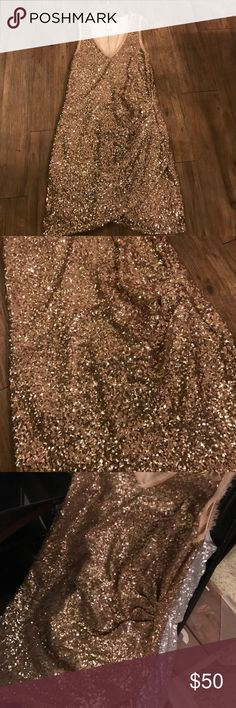 Gorgeous gold sequin holiday dress Gorgeous shine! Never worn! Perfect condition! Super cute for the holidays. Similar to Betsy Johnson brands Betsey Johnson Dresses Mini