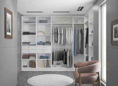 #Dressing en L dans une #chambre #moderne ! http://www.m-habitat.fr/petits-espaces/dressing/les-dressings-sur-mesure-2643_A