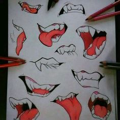 Learn To Draw Manga - Drawing On Demand Anime Drawings Sketches, Pencil Art Drawings, Drawing Base, Manga Drawing, Anime Mouth Drawing, Teeth Drawing, Drawing Expressions, Drawing Reference Poses, Art Studies