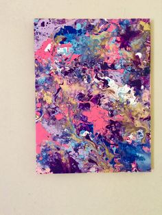 Abstract Painting Gold Pink Art Small Painting Blue by ResemblesMe                                                                                                                                                                                 More