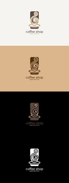 Coffee logo coffee shop branding, coffee shop logo, cofee shop, p logo design Coffee Shop Logo, Coffee Branding, Logo Branding, Branding Design, Cofee Shop, Restaurant Logo, Cafe Logo, Creative Coffee, Logo Sign