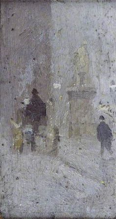 Study for 'Albert Square' - Adolphe Valette - c. 1910 - Manchester City Galleries