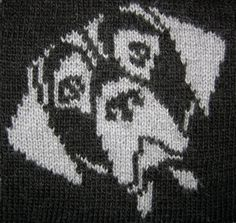 Dog portraits: pack of nine printed knitting by NickyBarfoot