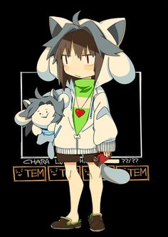 Chara is cosplayed of Temmie