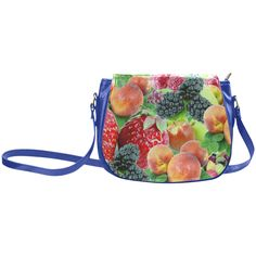 Fruit Strawberry Blackberry Raspberry Peach Classic Saddle Bag/Large (Model 1648)