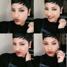 """Cutie! @xclusive_shan77   #thecutlife #shorthair #selfie #pixiecut #beauty #stunner ✂️"""