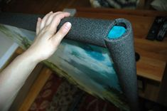 Always looking for best practices for shipping paintings. I like the idea of pipe insulation around the edges!