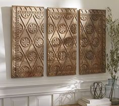 Wooden Triptych Wall Art #potterybarn $499