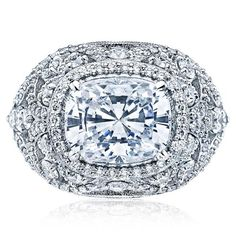 Shop online TACORI HT2612CU10X8 Vintage Platinum Diamond Engagement Ring at Arthur's Jewelers. Free Shipping
