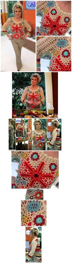 Blusa Ana Maria Braga em Crochê
