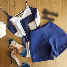 Conjunto df45d0 Really Cute Outfits, Cool Outfits, Summer Outfits, Casual Outfits, Blazer And Shorts, Fall Fashion Outfits, Casual Street Style, Skirt Outfits, Ideias Fashion