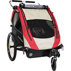 Amazon.com: Red and Black Triple Trio Tandem Baby Jogger Stroller ...