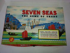 Seven Seas The Game Of Trade Vintage 1960 Board Game Cadaco Ellis Inc Board #CadacoEllisInc