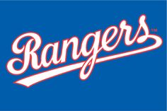 Texas Rangers Jersey Logo on Chris Creamer's Sports Logos Page - SportsLogos. A virtual museum of sports logos, uniforms and historical items. Texas Rangers Logo, Rangers Baseball, Baseball Boys, Baseball Teams, Mlb Team Logos, Mlb Teams, Sports Logos, Sports Art, Sports Teams